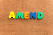 Amend — Stock Photo