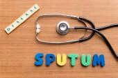 Sputum — Stock Photo