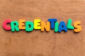 Credentials — Stock Photo