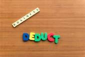 Deduct — Stock Photo