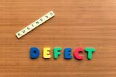 Defect — Stock Photo