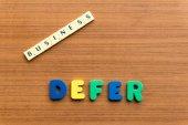 Defer — Stock Photo