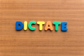 Dictate — Stock Photo