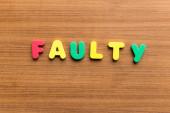 Faulty — Stock Photo