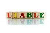 Liable — Stock Photo