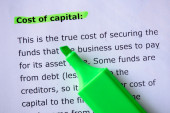 Cost of capital — Stock Photo