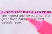 Current Year High & Low Prices — Stock Photo