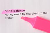 Debit Balance — Stock Photo