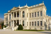 Dolmabahce palace, istanbul, turecko — Stock fotografie