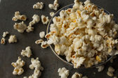 Popcorn for watching your favorite movies in the cinema — Stock Photo