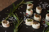Soft goat cheese with rosemary  — Stock Photo