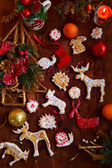 Galletas de Navidad hechas por niños — Foto de Stock