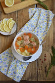 Fish (trout) soup — Stock Photo