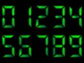 Set of green numbers — Stock Vector