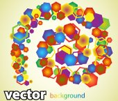 Background with many hexagons — Stockvektor