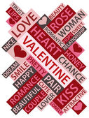 Words which relate with love and valentine — Vector de stock
