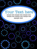 Text vector pattern with circles — Stock Vector