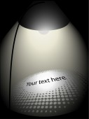Shiny lamp with space for your text — Stock Vector