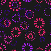 Circles on black background — Stock Vector
