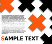 Text pattern with crosses — Stock Vector