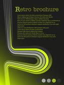 Broszura z zielonej linii — Wektor stockowy