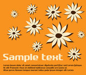 Pattern with flowers — Stock Vector