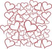 Hand draw hearts — Stock Vector