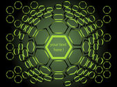 Background made from hexagons — Stock Vector