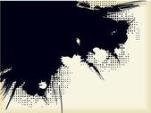 Grunge of inky blot — Stock Vector