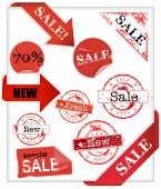 Set of shopping  signs — Stock Vector