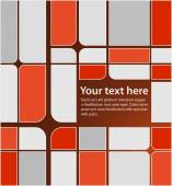 Red and grey squares pattern — Stock Vector