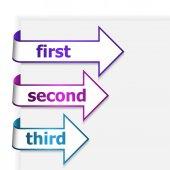 White linear arrows — Stock Vector