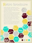 Text brochure with hexagons — Stock vektor