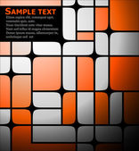 Ornge squares background — Vector de stock