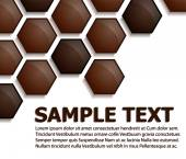 Pattern made from 3D hexagons — Stock Vector