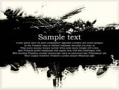 Black and white ink background — Stock Vector