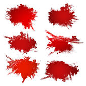 Red inky patches — Stock Vector