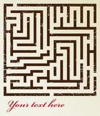 Seamless maze pattern — Stock Vector