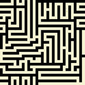 Seamless maze pattern — Stock Vector