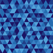 Pattern made from blue triangles — Stock Vector