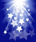Background with stars and stripes — Stock Vector