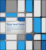 Blue and grey squares pattern — Stock Vector