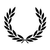 Black Laurel Wreath — 图库矢量图片