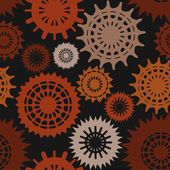 Seamless pattern with many cogwheels — Stock Vector