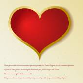 Vintage red heart — Stock Vector