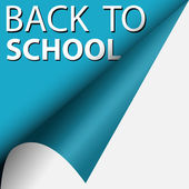 Text back to school — Stock Vector