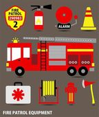 FIRE EQUIPMENT — Stock Vector