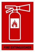 Fire extinguisher sign — Stock Vector