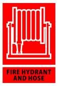 Fire hose reel sign and symbol — ストックベクタ