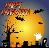 Halloween night party — Stock Vector
